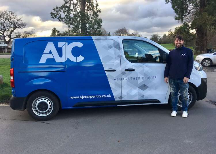 Pauls New Wrapped Van | AJC Carpentry