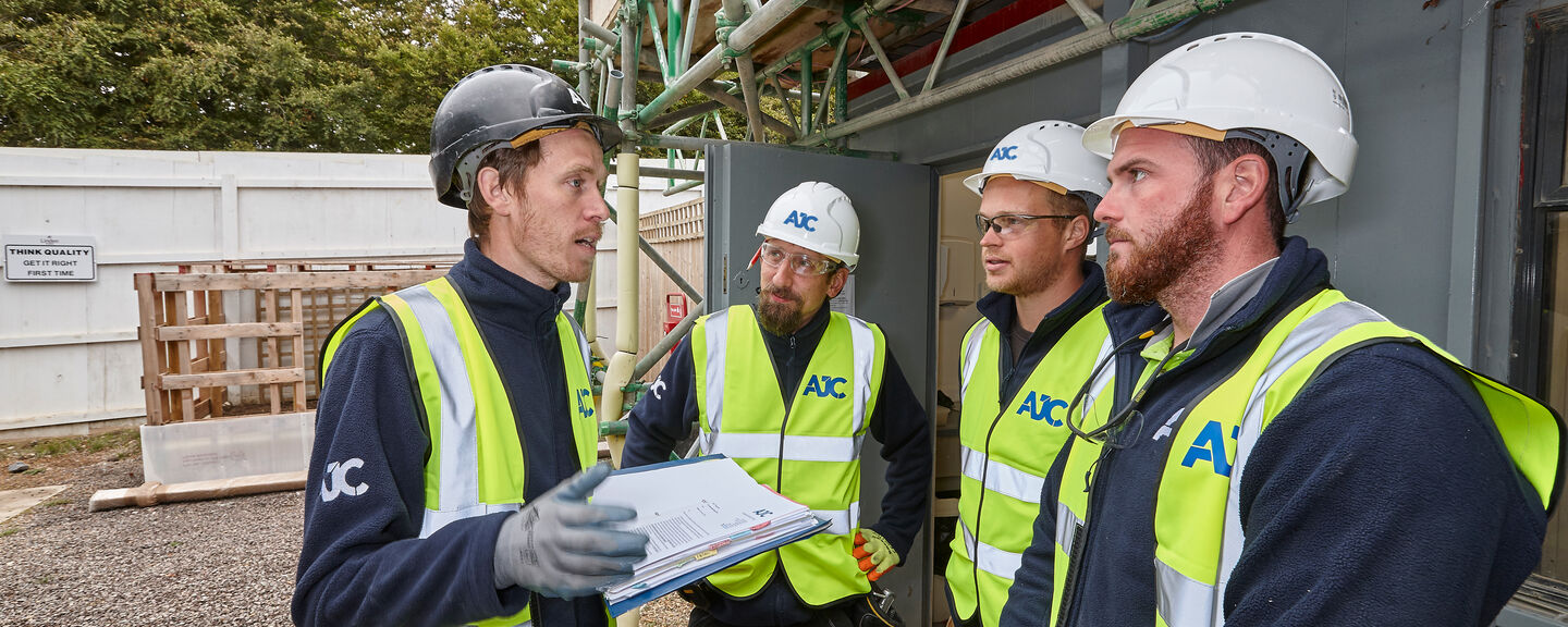 The health and safety team at AJC Carpentry