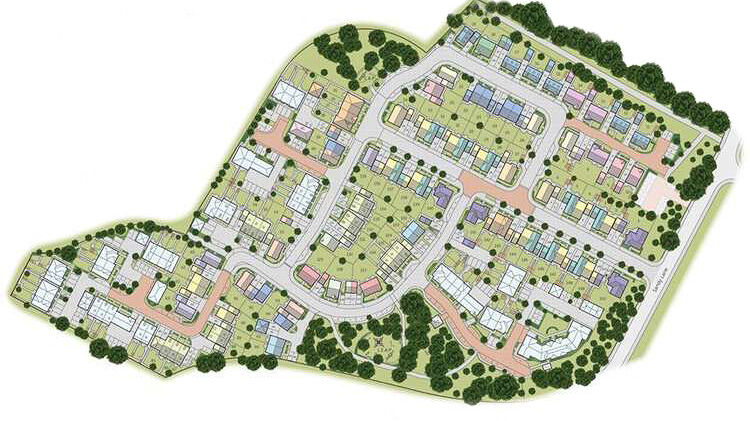 Bellway Minley Site Map - AJC Carpentry