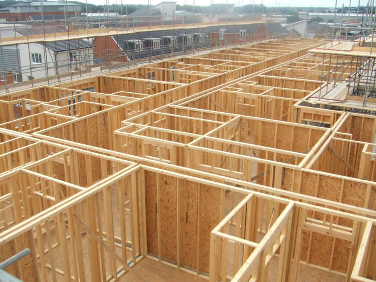 Frames of the Kennett Island apartments - AJC Carpentry