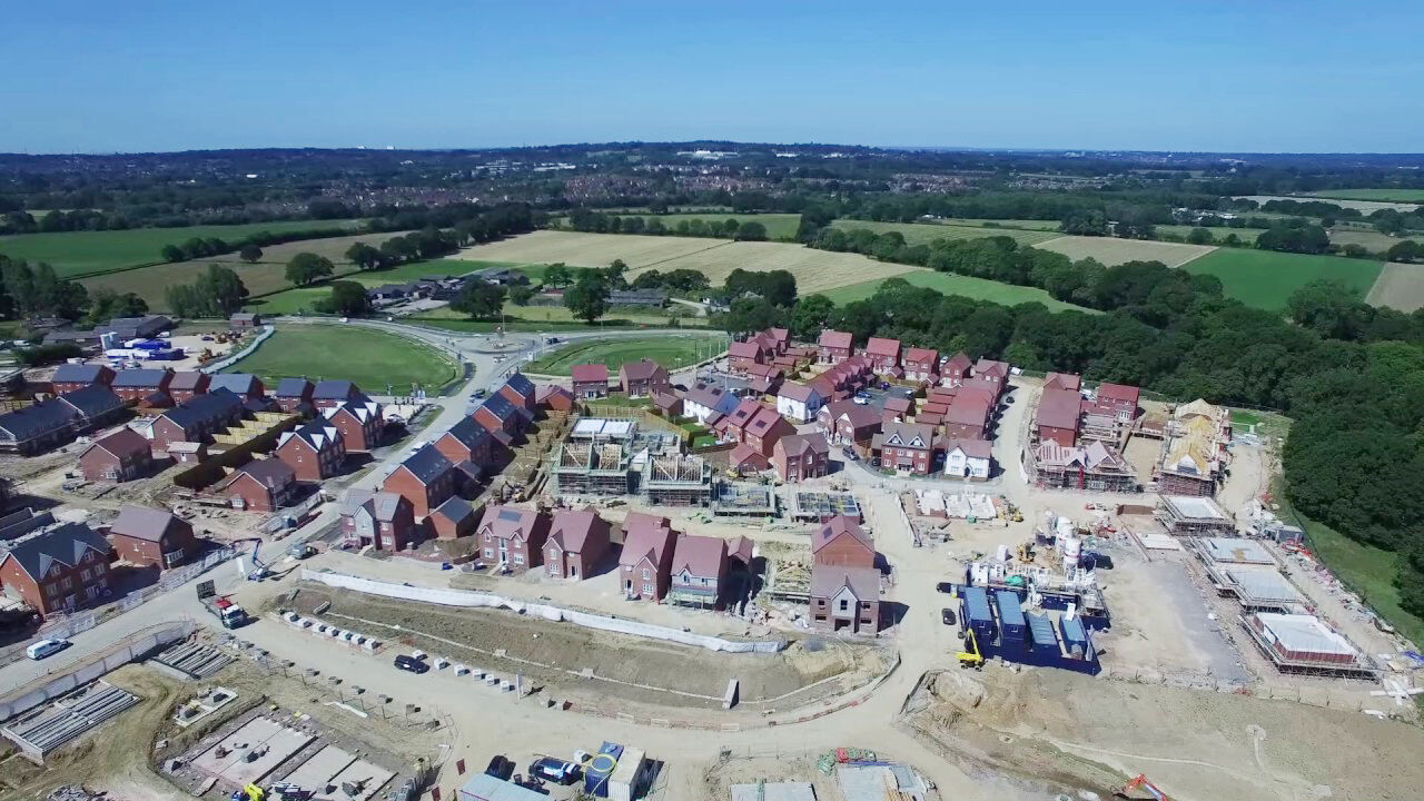 Arial footage of the Boorley Park development