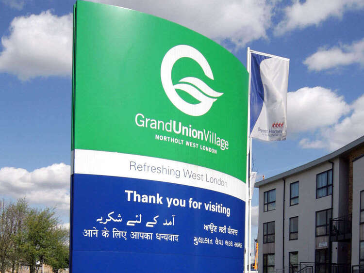 Grand Union Village Sign | AJC Carpentry Southern Limited