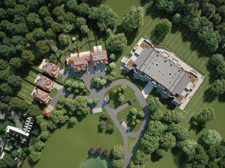 Arial View of the Knowle Hill Park development - AJC Carpentry