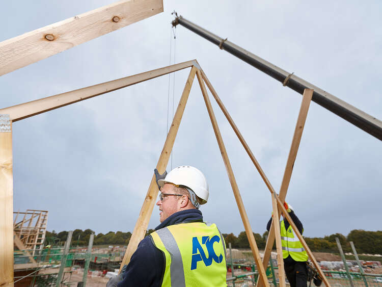 Carpentry frames on the Kennel Farm development | AJC