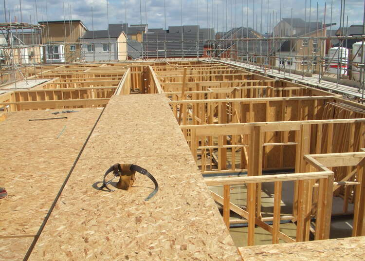 Timber frames - first fix carpentry - Home building site