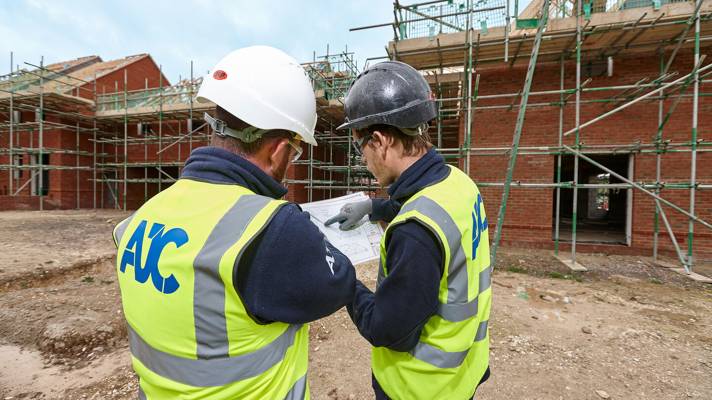 AJC Apprentices working on a building site